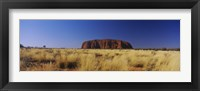 Framed Rock formations on a landscape, Ayers Rock, Uluru-Kata Tjuta National Park, Northern Territory, Australia