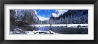 Framed USA, California, Yosemite National Park, Flowing river in the winter