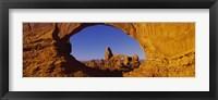 Framed Natural arch on a landscape, Arches National Park, Utah, USA