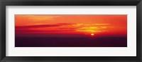 Framed Sunrise Lake Michigan USA