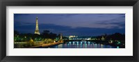 Framed France, Paris, Eiffel Tower , Seine River