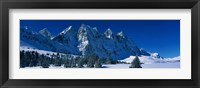Framed Ramparts Tonquin Valley Jasper National Park Alberta Canada