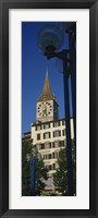 Framed Low angle view of a clock tower, Zurich, Canton Of Zurich, Switzerland