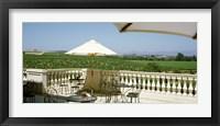 Framed Vineyards Terrace at Winery Napa Valley CA USA