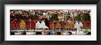 Framed Harbor in Bergen, Norway