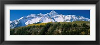 Framed Snowcapped mountains on a landscape, Wilson Peak in autum, San Juan Mountains, near Telluride, Colorado