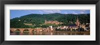 Framed Germany, Heidelberg, Neckar River