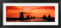 Framed Windmills Holland Netherlands
