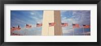 Framed Washington Monument Washington and flags DC