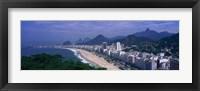 Framed Aerial view of Copacabana Beach, Rio De Janeiro, Brazil