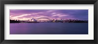 Framed Opera house at the waterfront, Sydney Opera House, Sydney Harbor Bridge, Sydney, New South Wales, Australia
