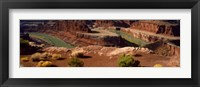 Framed High angle view of a river flowing through a canyon, Dead Horse Point State Park, Utah, USA
