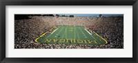 Framed University Of Michigan Stadium, Ann Arbor, Michigan, USA