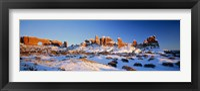 Framed Rock formations on a landscape, Arches National Park, Utah, USA