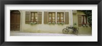 Framed Bicycle outside a house, Rothenburg Ob Der Tauber, Bavaria, Germany