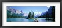 Framed Maligne Lake Near Jasper, Alberta, Canada