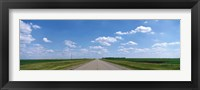 Framed Prairie Highway, De Smet, South Dakota, USA