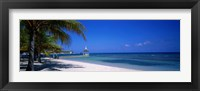 Framed Beach At Half Moon Hotel, Montego Bay, Jamaica