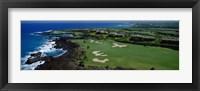 Framed Aerial Francis H Li Brown Golf Course, Hawaii, USA