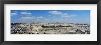 Framed Ariel View Of The Western Wall, Jerusalem, Israel