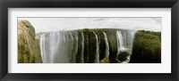 Framed Water falling into a river, Victoria Falls, Zimbabwe, Africa