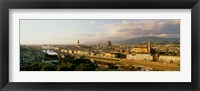Framed Duomo & Arno River Florence Italy