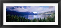 Framed St Mary Lake, Glacier National Park, Montana, USA