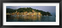 Framed Town at the waterfront, Portofino, Italy