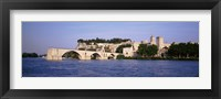 Framed France, Vaucluse, Avignon, Palais des Papes, Pont St-Benezet Bridge, Fort near the sea