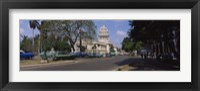 Framed Building along a road, Capitolio, Havana, Cuba