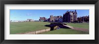 Framed Footbridge in a golf course, The Royal and Ancient Golf Club of St Andrews, St. Andrews, Fife, Scotland