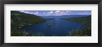 Framed High angle view of a lake, Lake Tahoe, California, USA