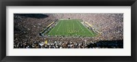 Framed Aerial view of a football stadium, Notre Dame Stadium, Notre Dame, Indiana, USA