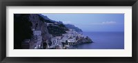 Framed High angle view of a village near the sea, Amalfi, Amalfi Coast, Salerno, Campania, Italy