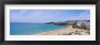 Framed High angle view of the beach, Albufeira, Faro, Algarve, Portugal