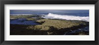 Framed Rock formations at the coast, Fernandina Island, Galapagos Islands, Ecuador