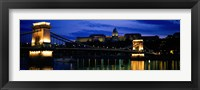 Framed Szechenyi Bridge Royal Palace Budapest Hungary