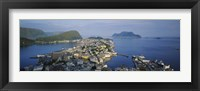 Framed High angle view of a town, Alesund, More og Romsdall, Norway