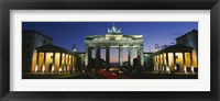 Framed Low angle view of a gate, Brandenburg Gate, Berlin, Germany