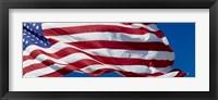 Framed Close-up of an American flag fluttering, USA