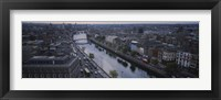 Framed High angle view of a city, Dublin, Leinster Province, Republic of Ireland
