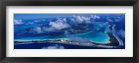 Framed Aerial View Of An Island, Bora Bora, French Polynesia