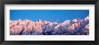 Framed Snow Mt Whitney CA USA