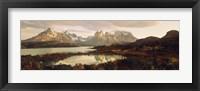 Framed Torres del Paine National Park Chile