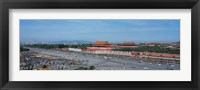 Framed Aerial view of Tiananmen Square Beijing China