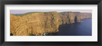 Framed High Angle View Of Cliffs, Cliffs Of Mother, County Clare, Republic Of Ireland