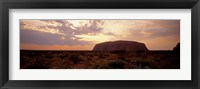 Framed Uluru-Kata Tjuta National Park Northern Territory Australia