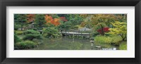 Framed Plank Bridge, The Japanese Garden, Seattle, Washington State, USA