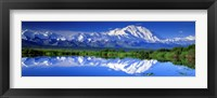Framed Alaska Range, Denali National Park, Alaska, USA