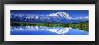 Framed Alaska Range, Denali National Park, Alaska, USA